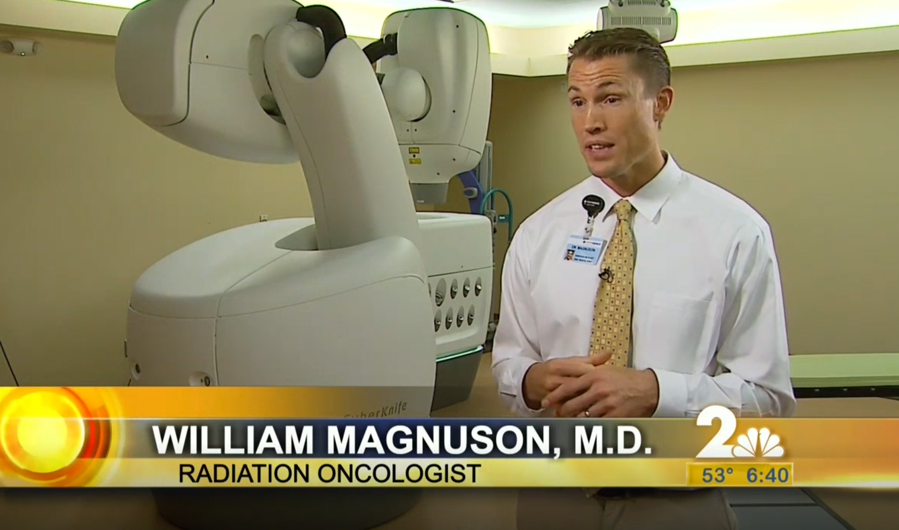 WIlliam Magnuson MD Discusses accuracy of Cyberknife radiation beams.